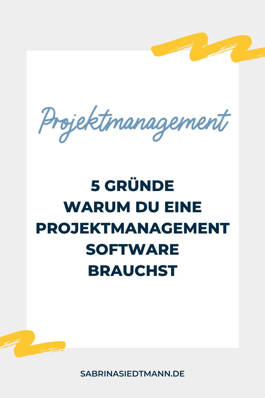 5 Gründe warum Du eine Projektmanagement Software brauchst
