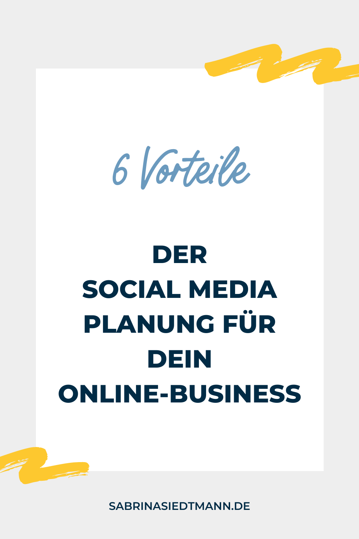 6 Vorteile der Social Media Planung